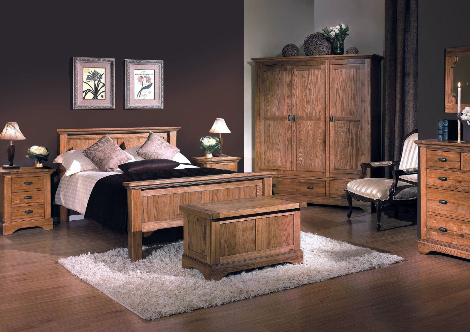 Master Bedroom Decorating Ideas  Oak bedroom furniture, Wooden