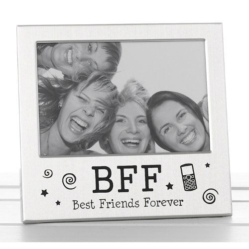Best Friends Forever Bff Photo Picture Frame Satin Silver Finish