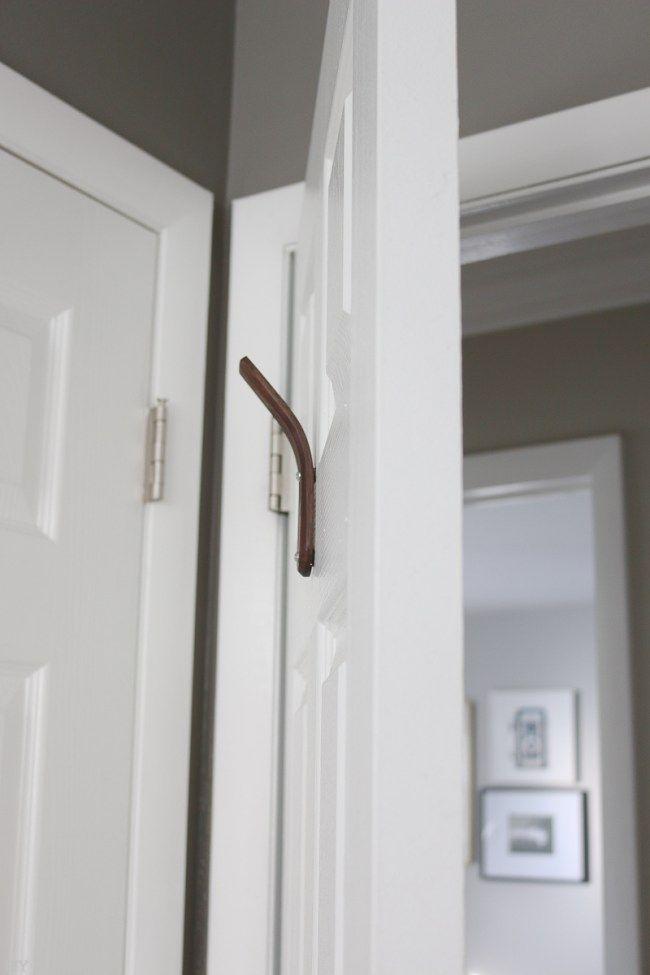 How To Hang A Hook On A Hollow Door The Diy Playbook Bathroom Door Hooks Hollow Core Doors Decorating Bathroom