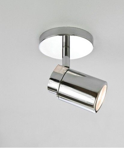 Polished chrome single spot light ip44 rated shower room polished chrome single spot light ip44 rated mozeypictures Images