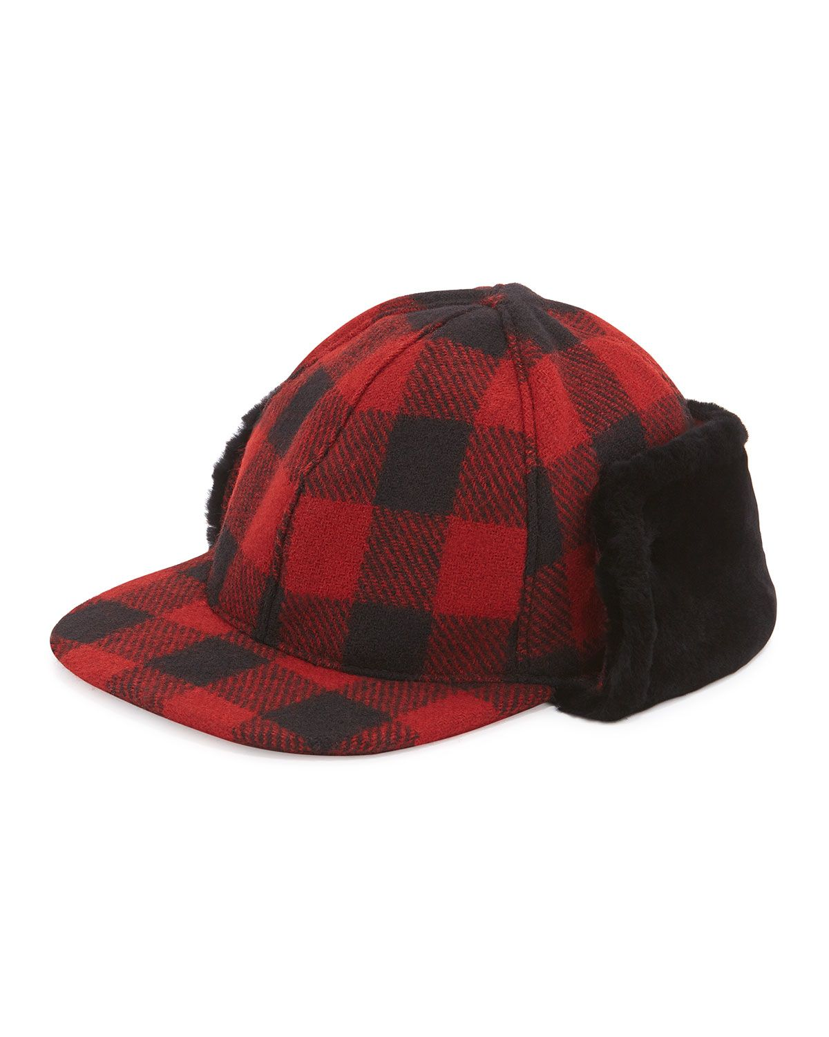 122a77b9774 McLain Buffalo Plaid Trapper Hat w Shearling