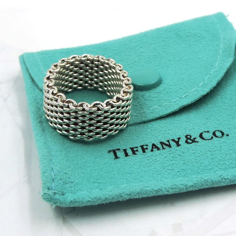 afa28f3c55161 Tiffany Somerset Mesh Band Ring in 2019 | { sterling silver jewelry ...