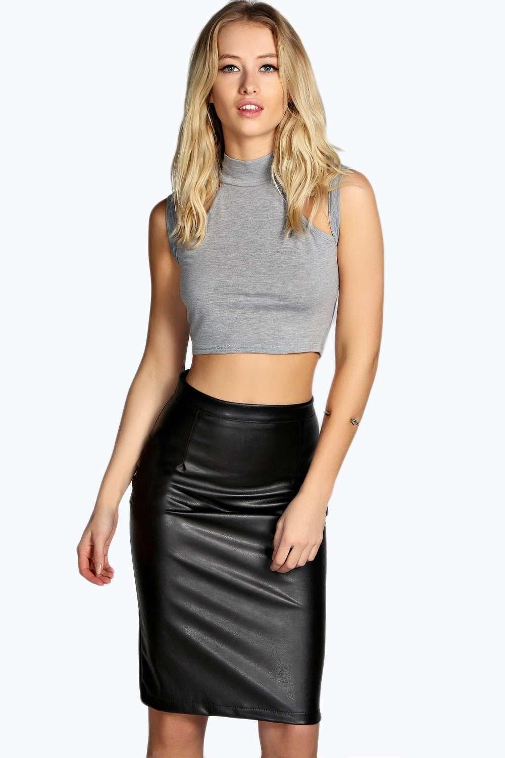 Stylish Leather Skirt How to Integrate Its Worth To You Try ...