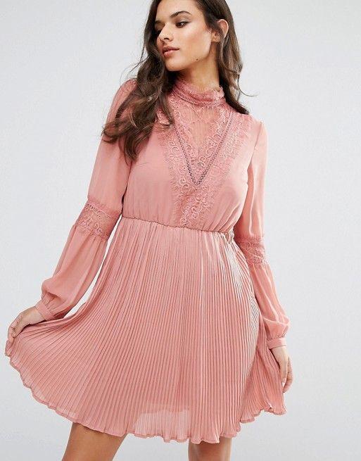 Vero Moda Lace Detail Skater Dress | Vero moda, Lace detail and ...