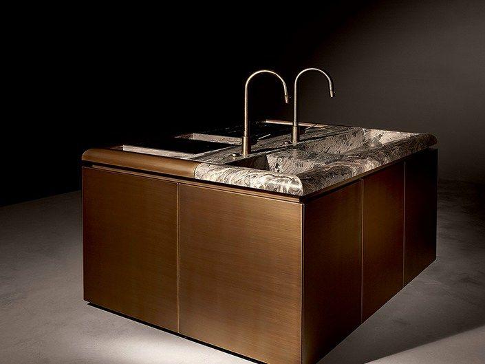 Cucina senza maniglie Collezione DC10 by ROSSANA RB | design Vincenzo De Cotiis