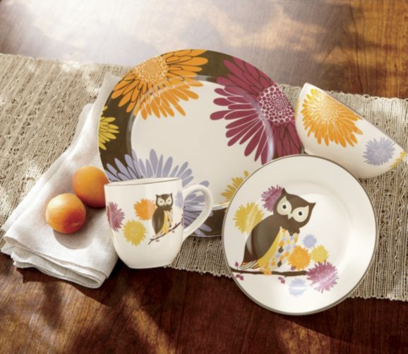 16-Piece Hoot-n-nanny Owl Dinnerware from Home at Five® My mom is going to get this for me I will soon own this set. Now to decorate the dining area around ... & 16-Piece Hoot-n-nanny Owl Dinnerware from Home at Five® My mom is ...