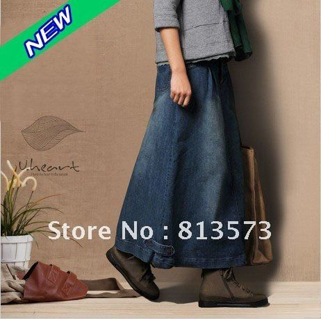 Long Denim Skirts | Long Jean Skirts Women Price,Long Jean Skirts ...
