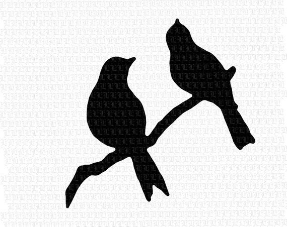 graphic relating to Bird Silhouette Printable called Perched Birds Department Silhouette Printable Image Electronic
