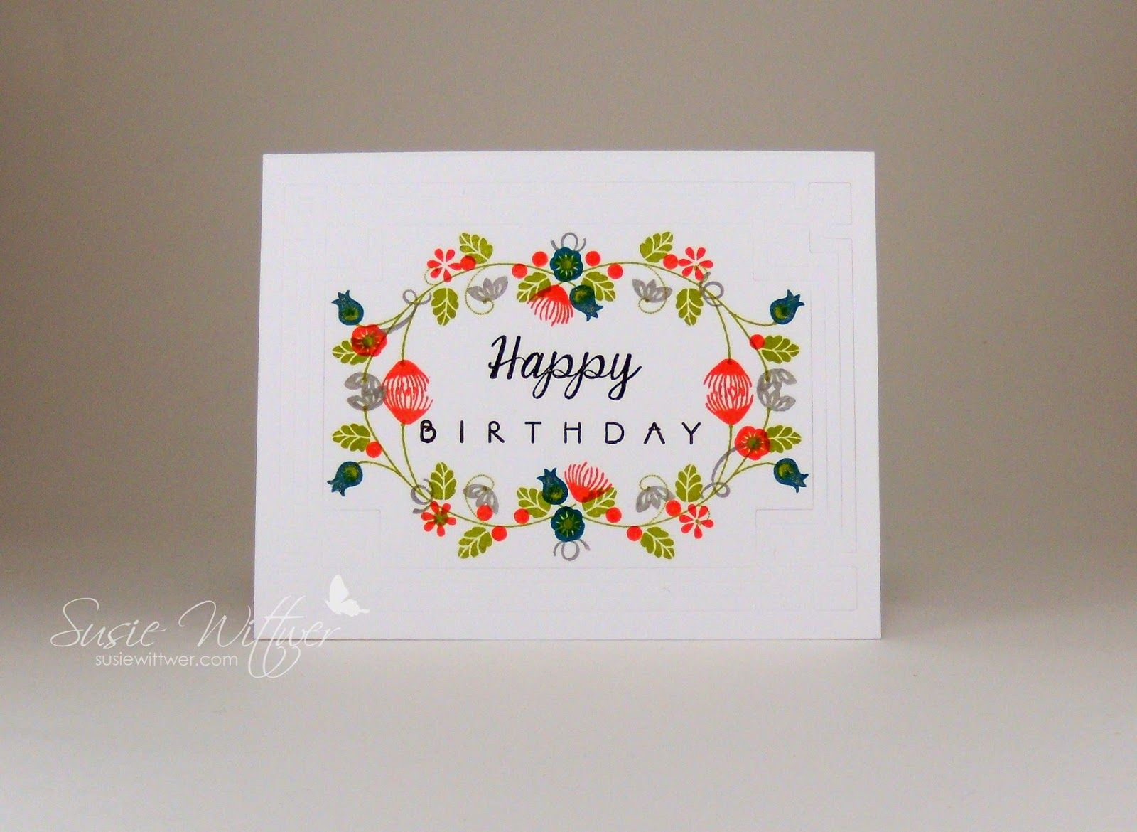 Procraftination a floral happy birthday cards designs