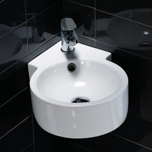 Eck-Waschbecken Handwaschbecken für Gäste WC kleine Badezimmer ...