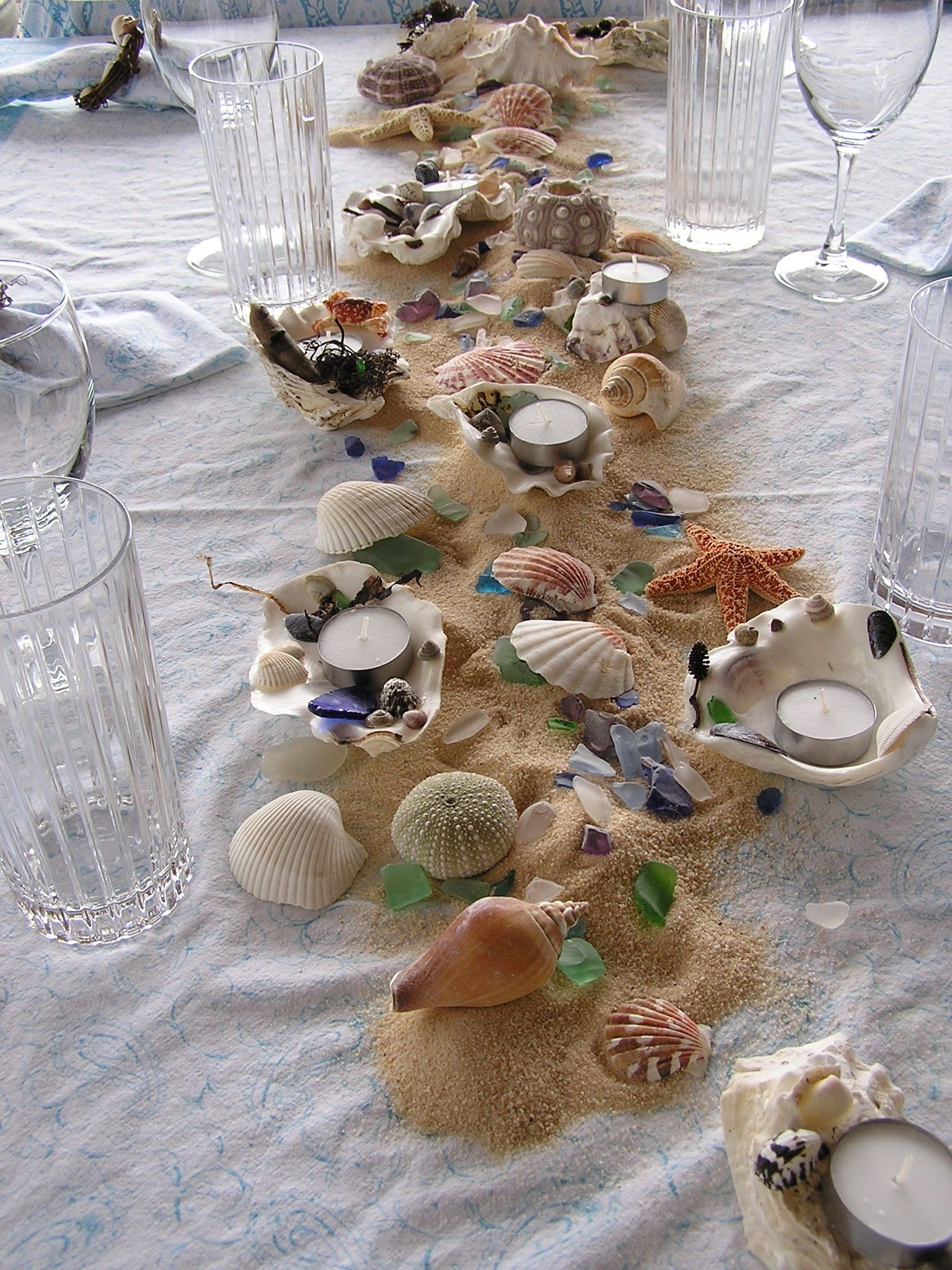 Beach Combing Table Theme