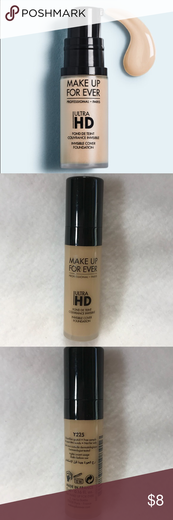 Make Up For Ever Ultra HD Liquid Foundation Y225 Make up