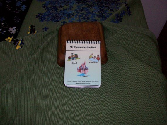 This Mini Communication Book is so ideal for travel. Great to bring to school, restuarants, on vacation, bus rides, stores and more.    #autism