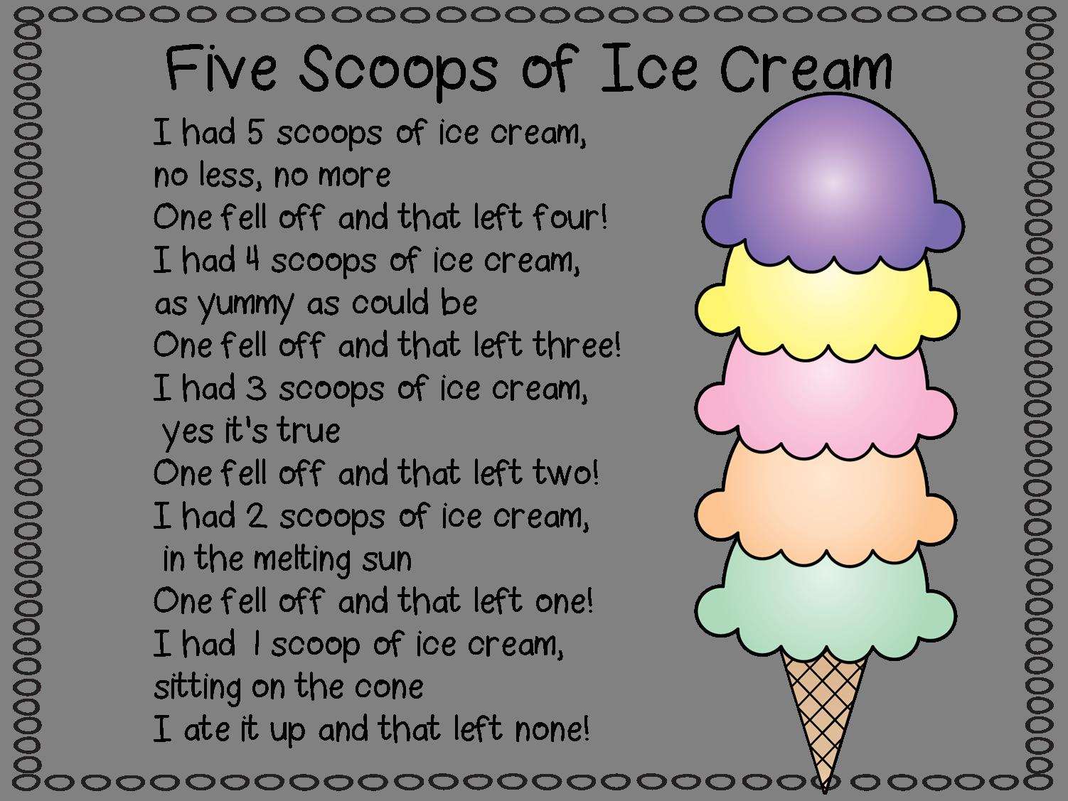 Bildergebnis Für Ice Cream Poem Sommer Kinder Gedichte