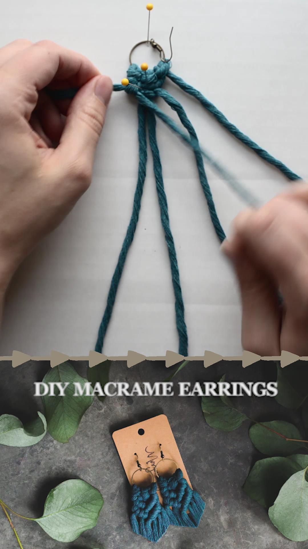 DIY macrame earrings,  #DIY #earrings #macrame