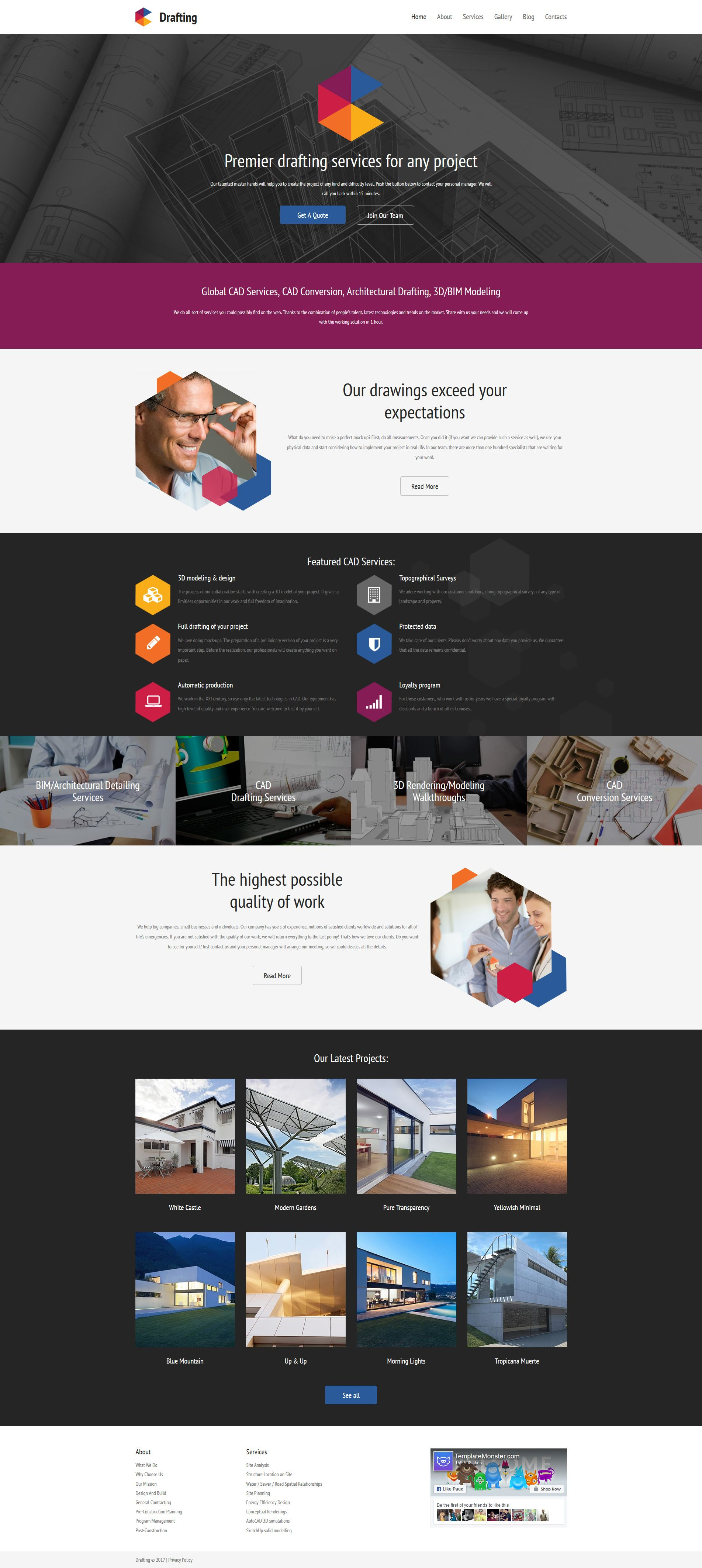 drafting responsive moto cms 3 template new website