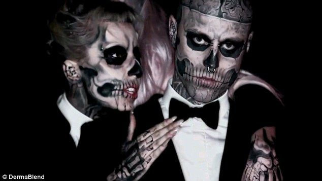 The Power Of Concealer Zombie Boy Goes Under Cover With Dermablend Lulus Com Fashion Blog Rick Genest Born This Way Makeup Skull Face Makeup