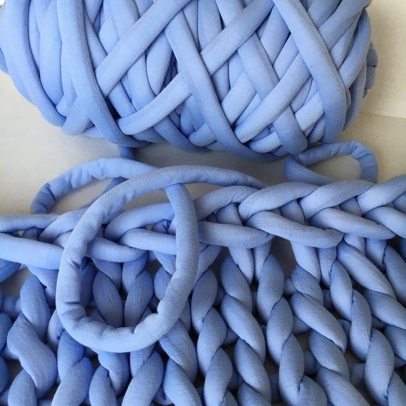 Cotton yarn for arm knitting vegan braid yarn to make hand