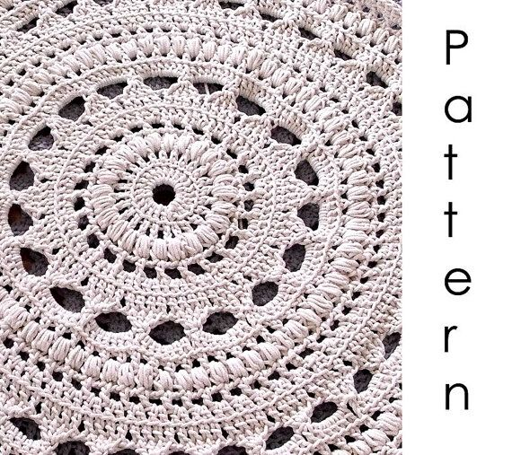 Crochet pattern Pdf- doily crochet rug | Teppiche, Knüpfen und ...
