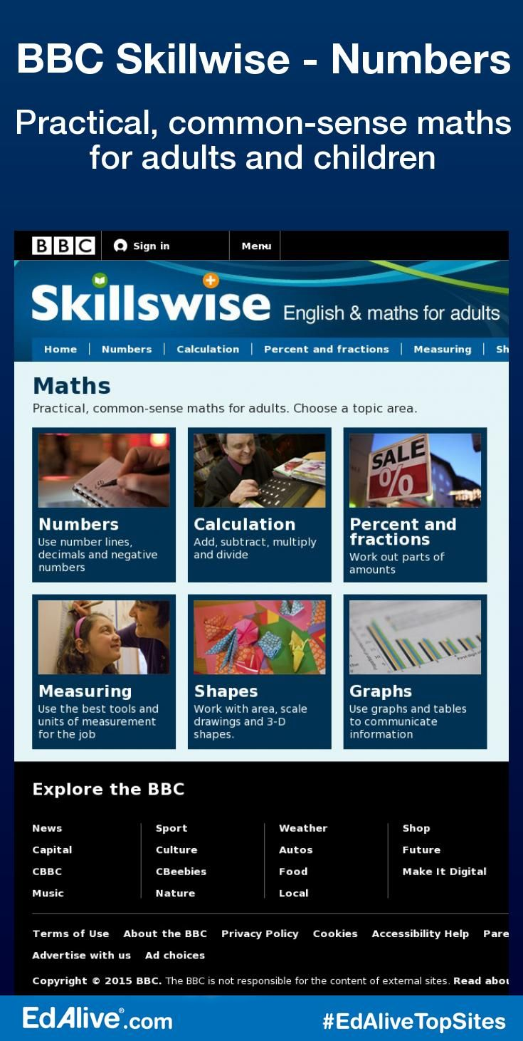 BBC Skillwise – Numbers | Numeracy, Worksheets and Math