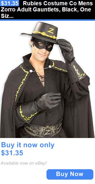 Halloween Costumes Men: Rubies Costume Co Mens Zorro Adult Gauntlets, Black, One Size BUY IT NOW ONLY: $31.35