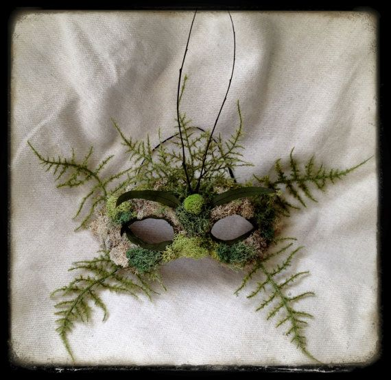 Green Man Halloween SCA Fair Nature Spirit Mask by CedarfoxStudios, $72.00