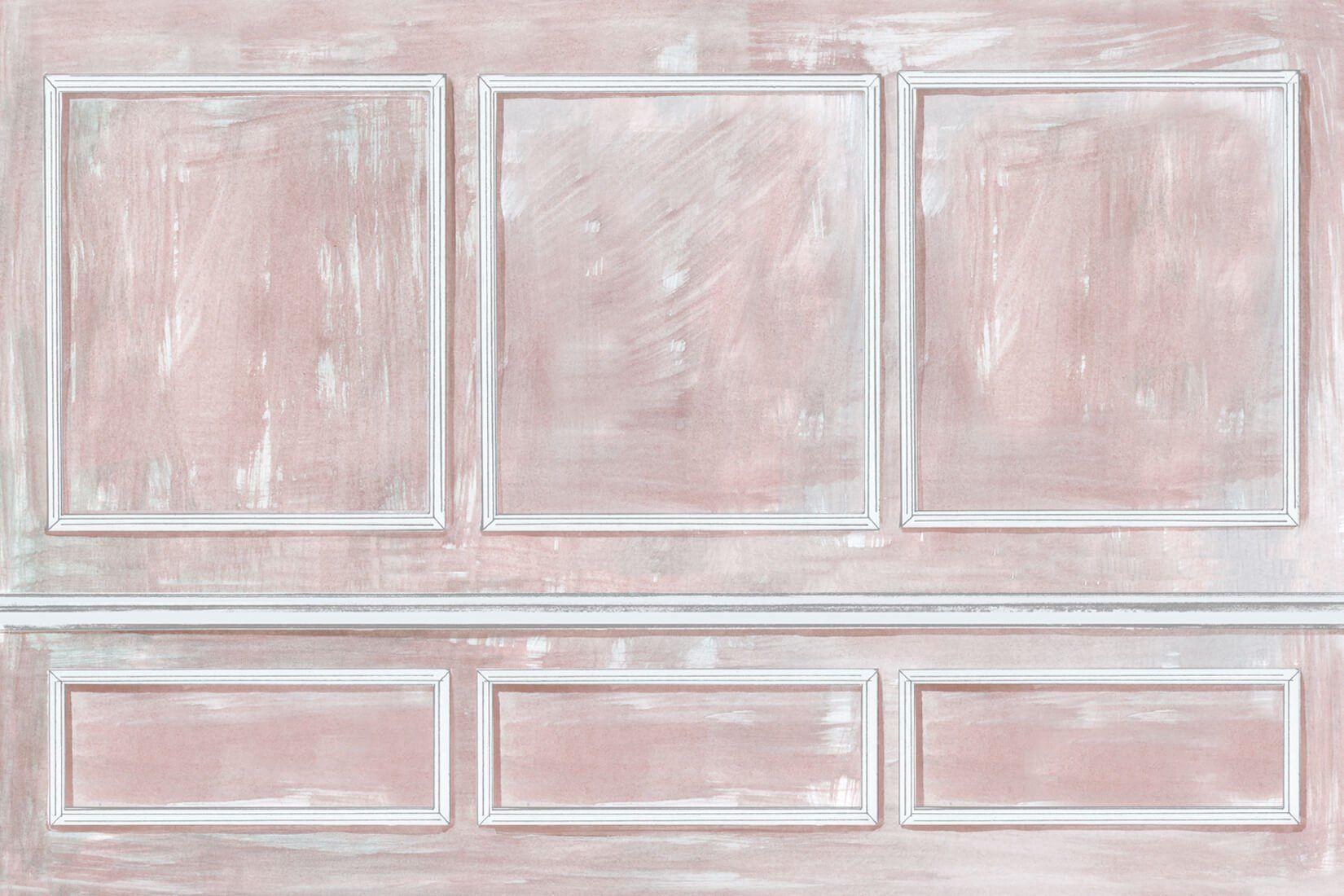 Coral Painted Panels Wall Mural Painted paneling walls