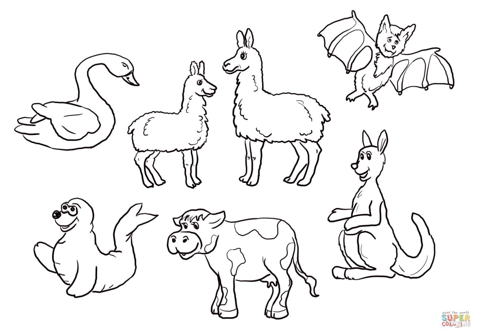 Is Your Mama a Llama Set Super Coloring Coloring pages