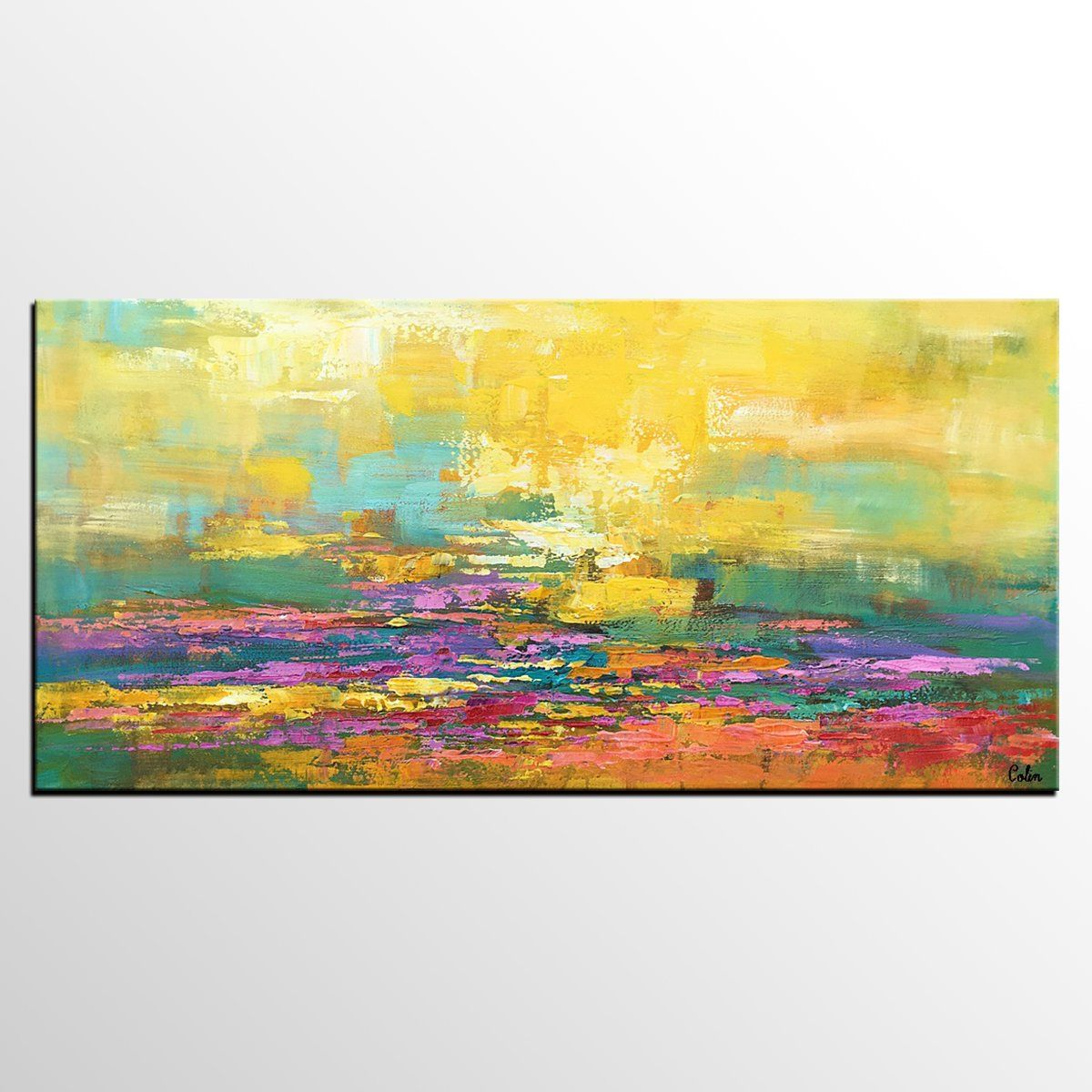 Canvas Art, Abstract Art, Landscape Painting, Large Art, Oil ...