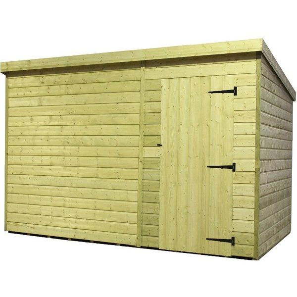 Buharkent 10 Ft W X 3 Ft D Shiplap Pent Wooden Shed Wooden Sheds Shed Shiplap Cladding