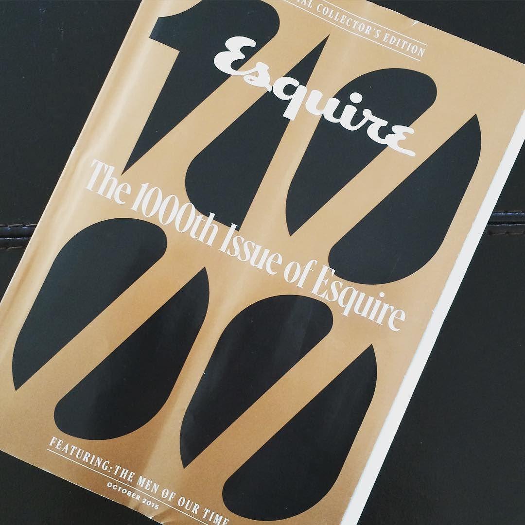 I'm still a sucker for print... #esquire #print