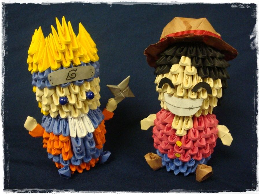 Origami Naruto And Lufy Papercrafts Pinterest Origami 3d