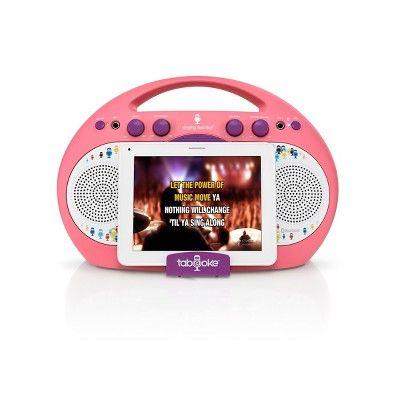 Singing Machine iSM398PP Tabeoke Portable Bluetooth Karaoke System, Purple Pink #karaokesystem