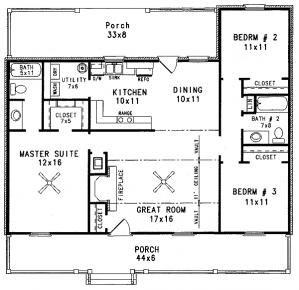 Floor Plan House 2 Cabin Floor Plans House Floor Plans Country House Plans