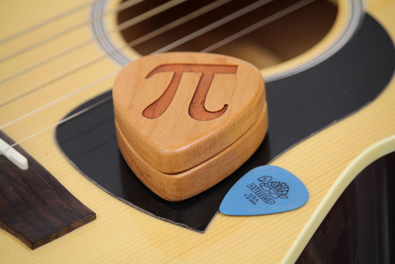 Guitar Pick Box, Pi Pattern G15, Solid Cherrywood, Laser Engraved, Paul Szewc http://etsy.me/20mgDVE