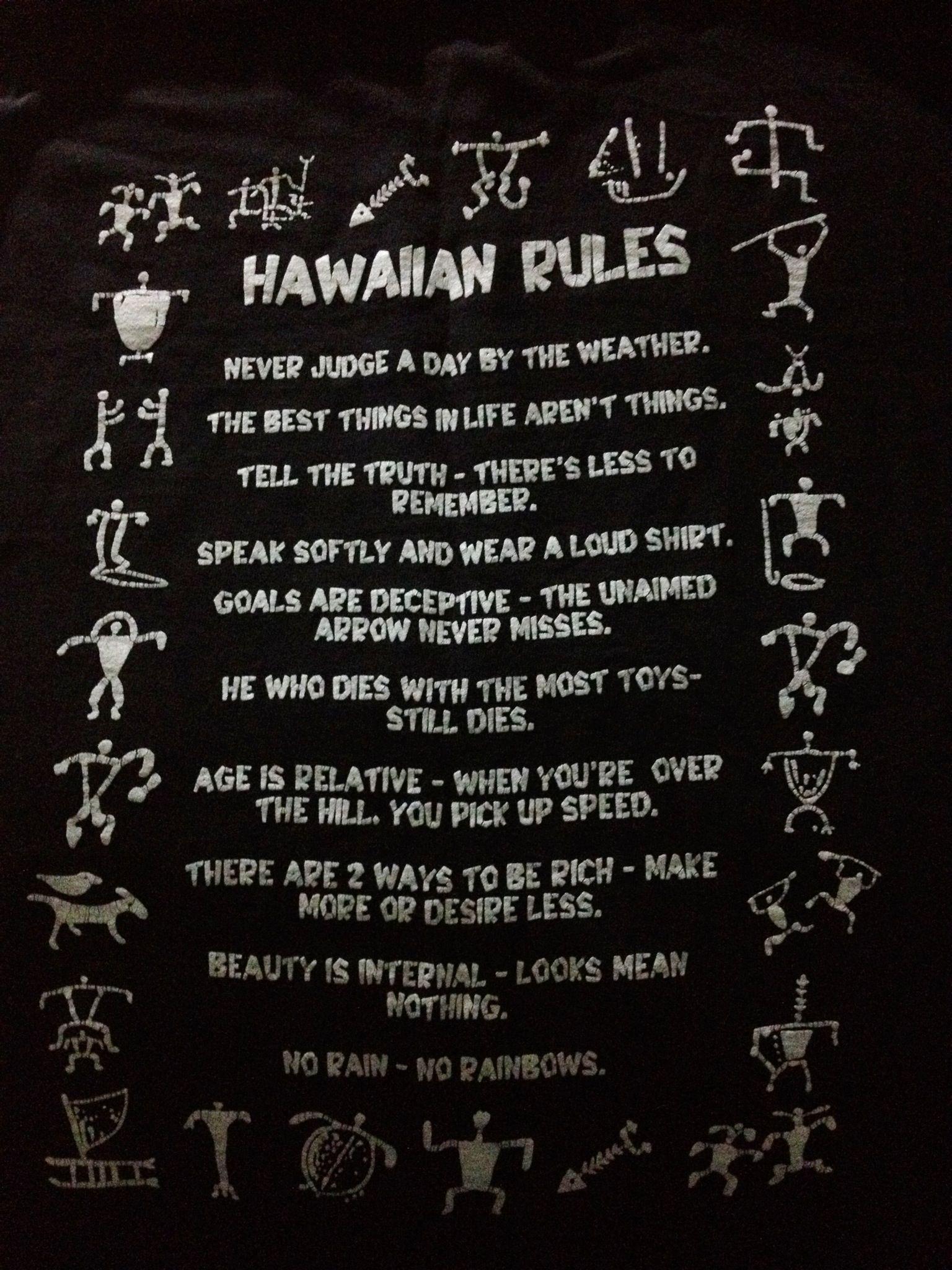 No Rain No Rainbows Hawaiian Rules Ive Had This For Years Since