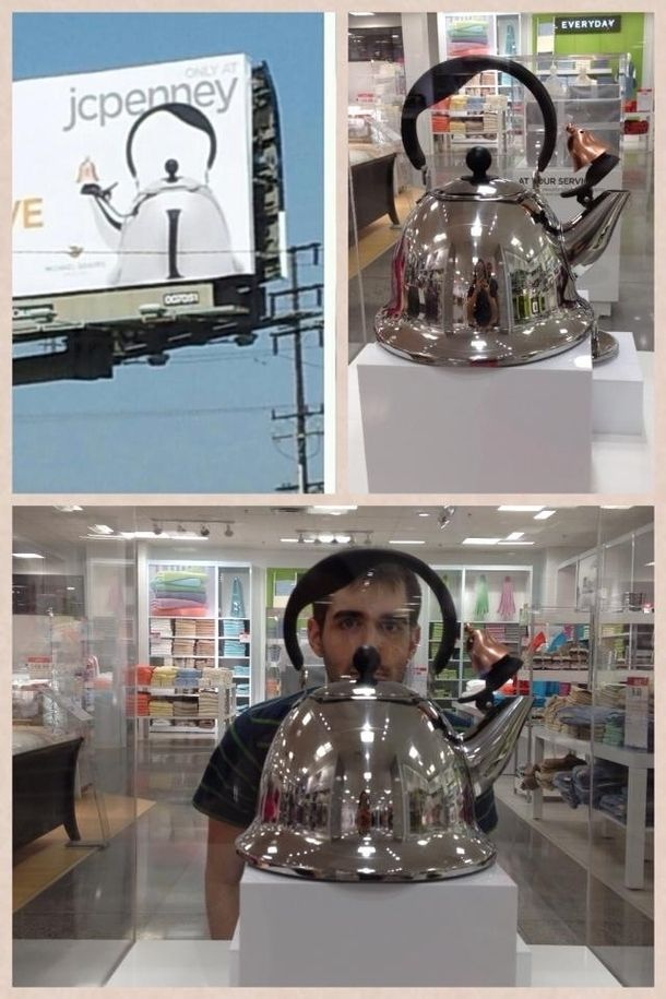 Saw the Hitler Kettle at JCPenney In a glass case none the less #funny #hitler #kettle #jcpenney #glass #none #humor #comedy #lol