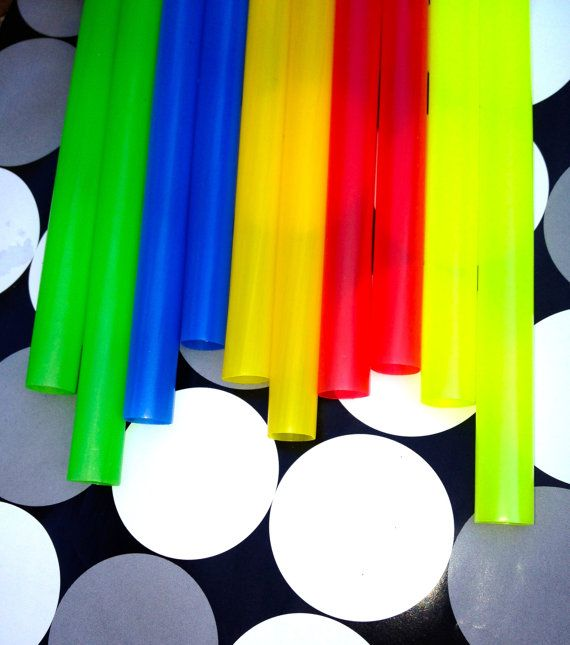 Colorful Extra FAT & Fun Party Straws by TheVelvetSkyPaperie, $5.50
