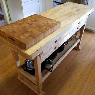 60 In 4 Drawer Hardwood Workbench In 2020 Workbench Plans Diy Folding Workbench Workbench