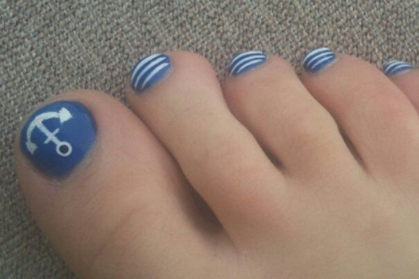 15 super cute summer toe nail designsnail art design nail art 15 super cute  summer toe - Nautical Toe Nail Designs Gallery - Nail Art And Nail Design Ideas