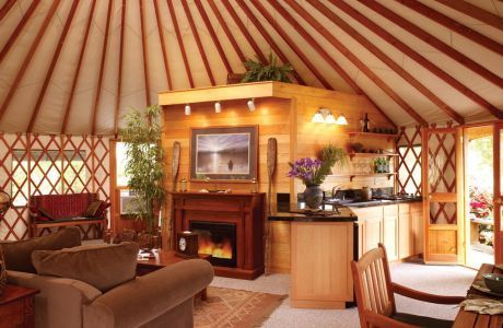 Image Detail for - Yurts such as this one from Rainier Yurts have been used as vacation ...