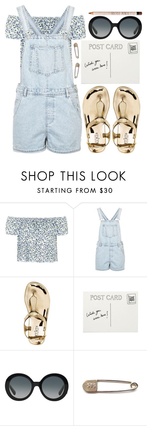 """""""Wonderland"""" by puppies241 ❤ liked on Polyvore featuring Topshop, Michael Kors, Prada, denim and Blue"""