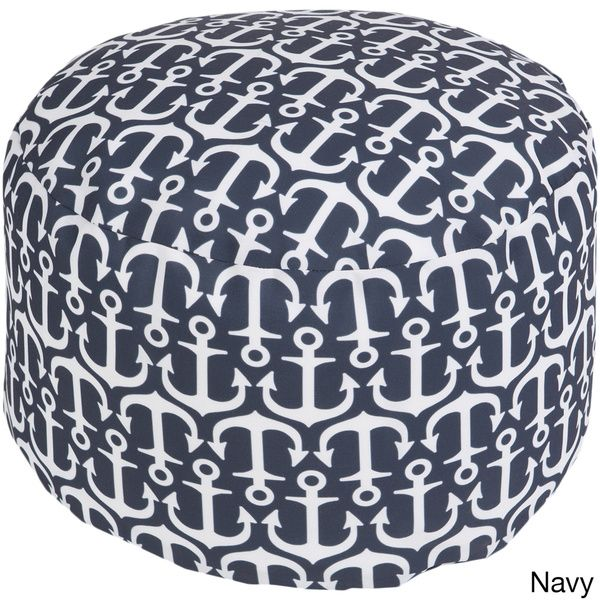 Sea Anchor Outdoor Indoor Decorative Cylinder Pouf Green Size 40 Classy Anchor Pouf