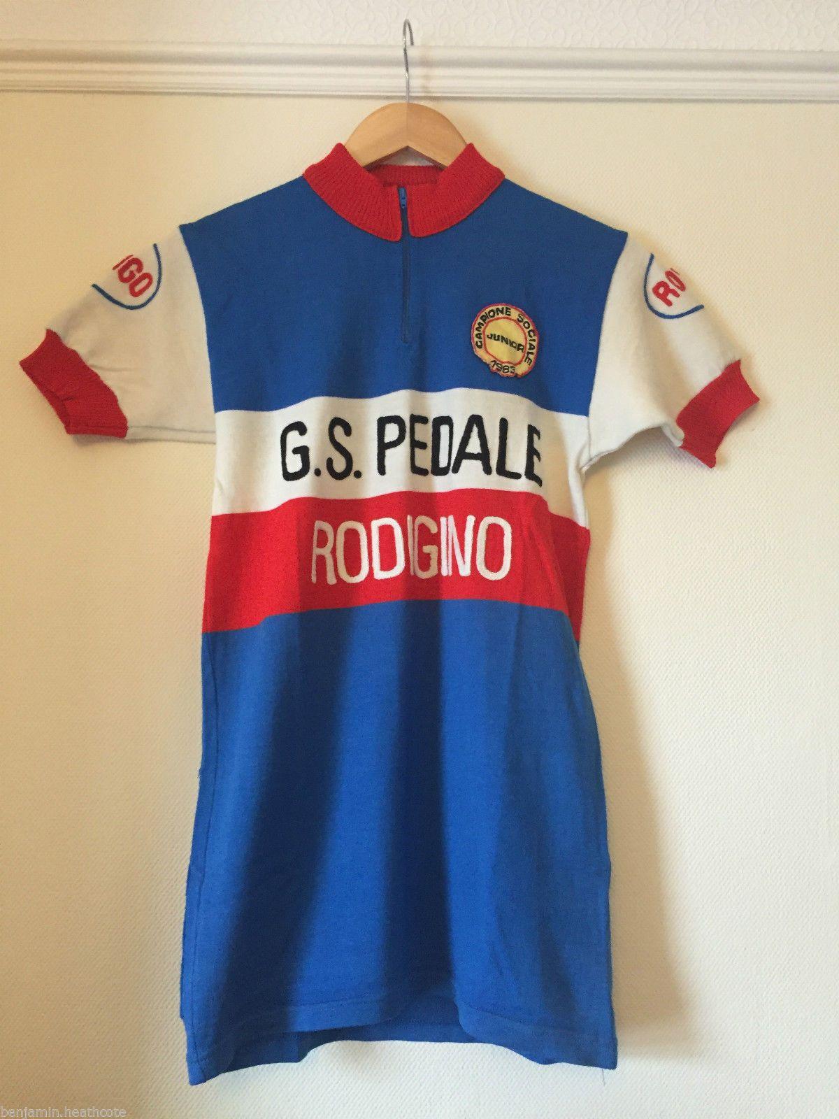 833a05fbb G S Pedale Rodigino Wool Vintage Santini Cycling Jersey