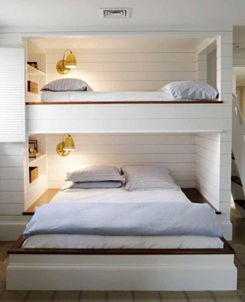 Loft bed with desk for girls  mediteranian post bed  Google Search  Bunk Bedrooms  Pinterest