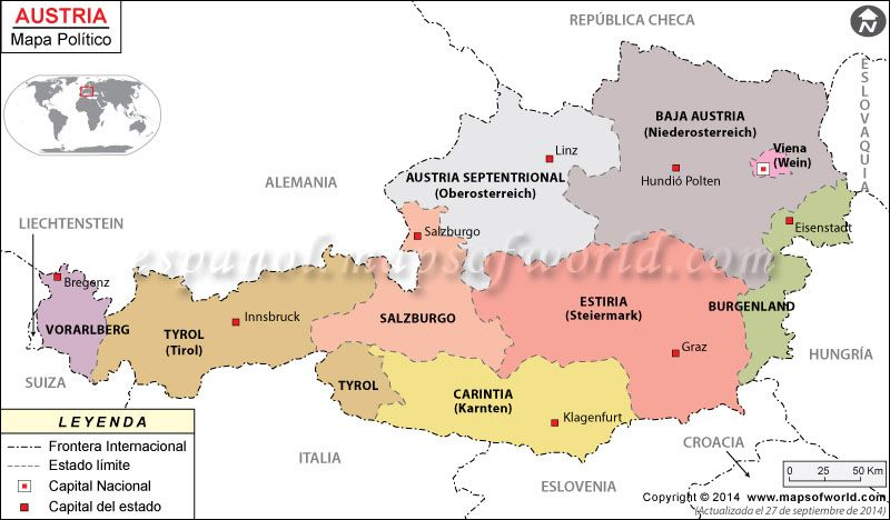 Austria Mapa , Mapa de Austria | Great Maps en 2019 | Mapa