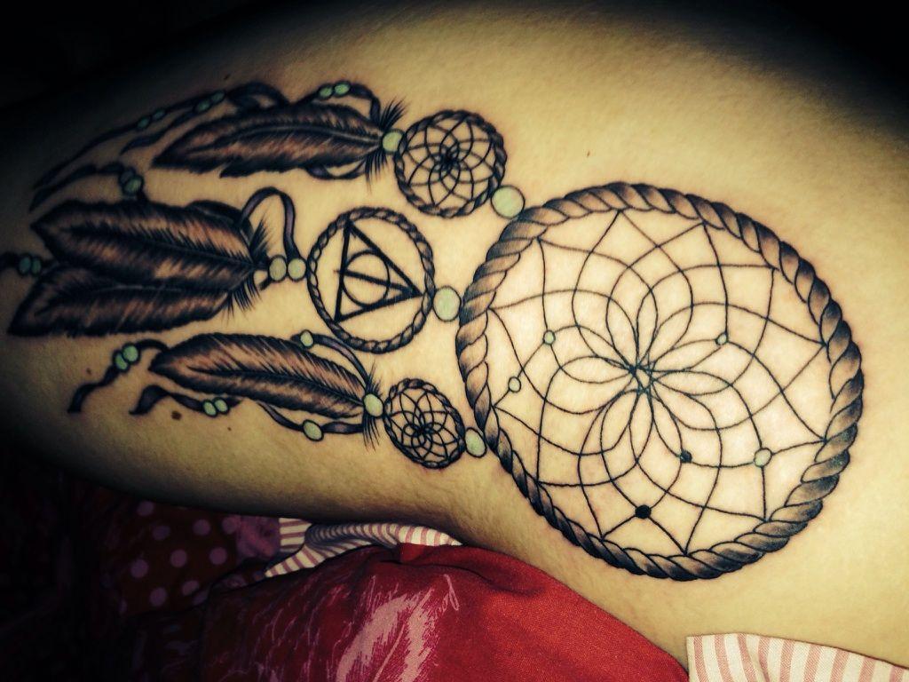 Dream Catcher Tattoo On Thigh Thigh Hip Tattoos Dream Catcher  Google Search  Pretty Tattoos