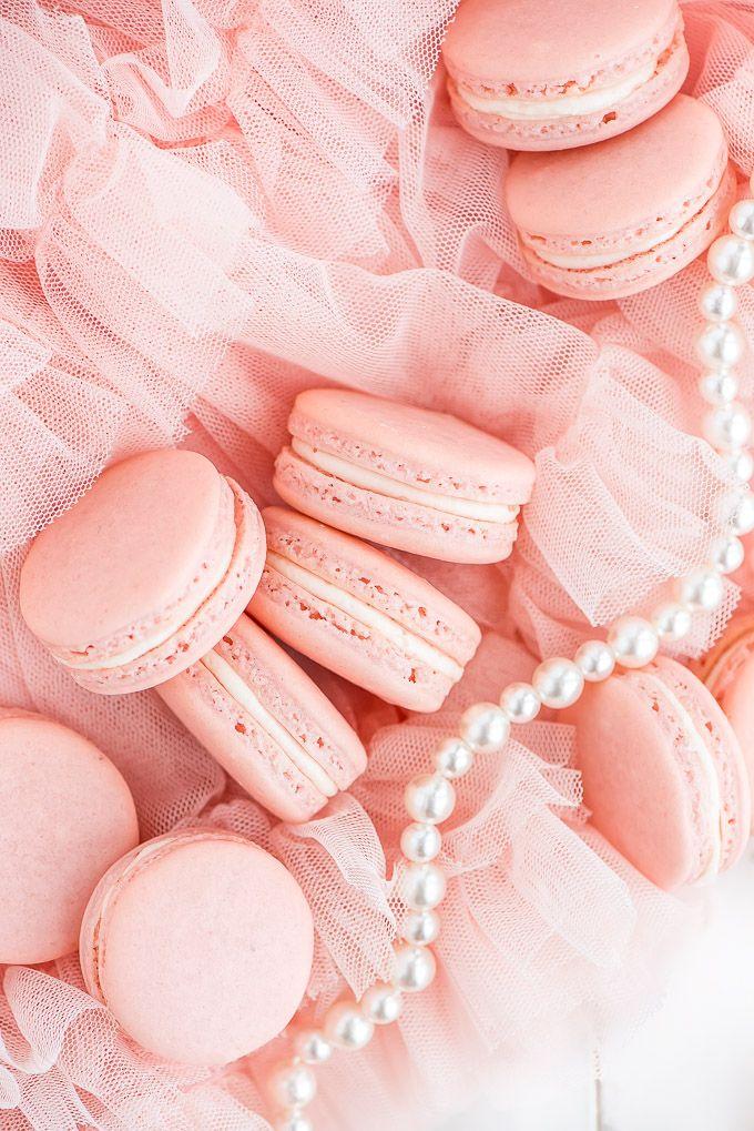 Macarons Garnish Glaze Recipe Pastel Pink Aesthetic Macaron Recipe Pink Aesthetic