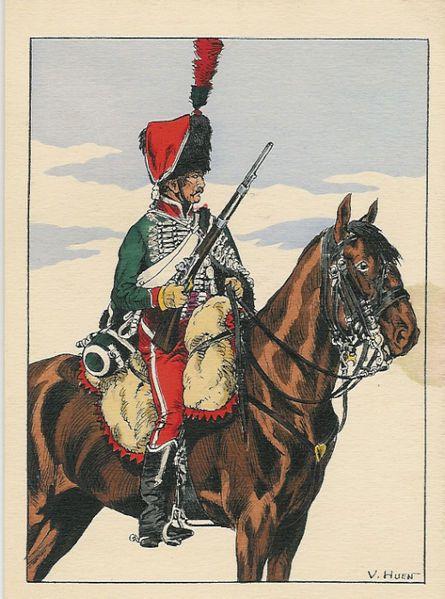 Cavalier du 8ème Régiment de Hussards (Image Pinterest).