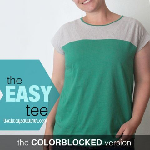 the easy tee {add a peter pan collar} + free pattern! | It's Always Autumn
